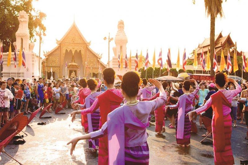 le hoi te nuoc o Chiangmai.